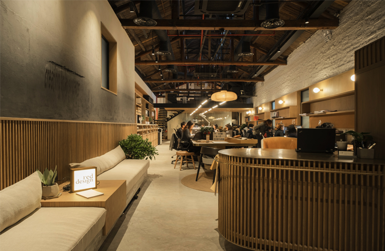 Red Design New Office | Transit to a warehouse into an urban gem in Shanghai